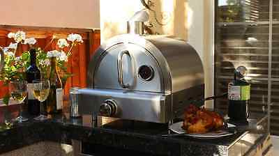 Outdoor Pizza Oven Propane Gas Stainless Steel Stone Portable Countertop