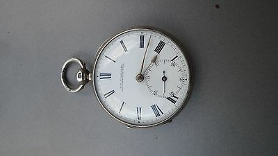 Antique silver fusee watch