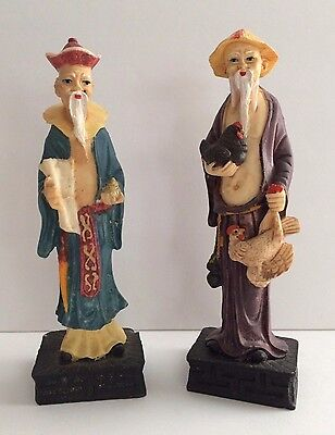 Two Vintage Asian Figurines 8""