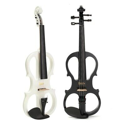 4/4 Electric Violin with Headphone Gig Bag Rosin Bow Cable for Beginner