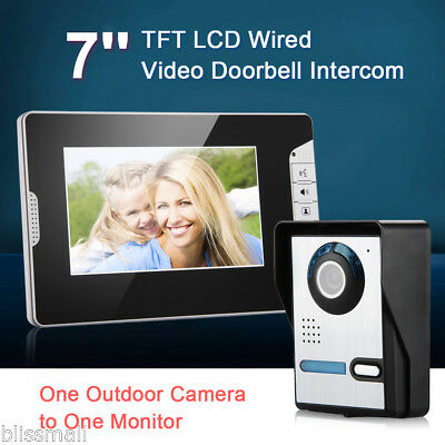 7  LCD Wired Door Phone Video Intercom Entry System Doorbell CCTV Camera Monitor  sc 1 st  PicClick UK & 7