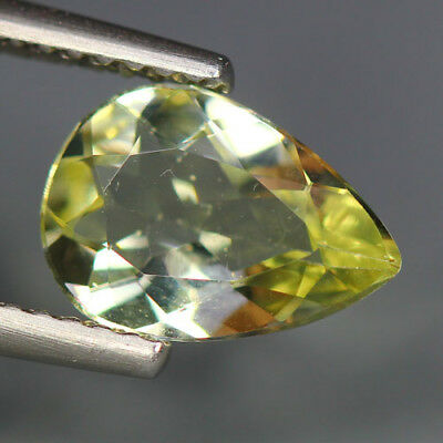 1.42 Cts_Glittering Top Fire & Luster_100 % Natural Lime Yellow Beryl_Brazil