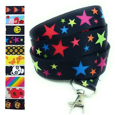 Spirius RAINBOW STARS Lanyard neck strap for key id badge holder  phone key