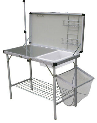 Lightweight Camping Kitchen With Folding Table And Larder