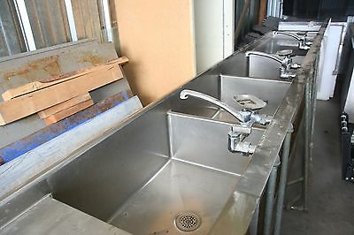 "184"" Stainless Steel 3 Compartment Commercial Dishwash Sink Restaurant Three NSF"