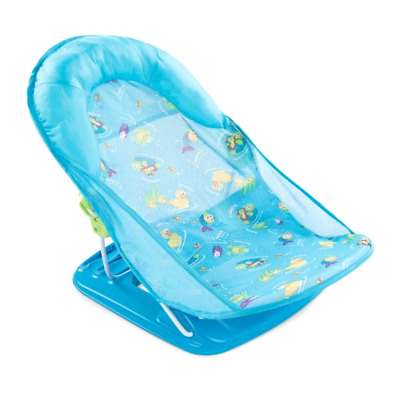Summer Infant Baby Bather Seat Deluxe Bath Tub Mother's Touch Soft Comfort