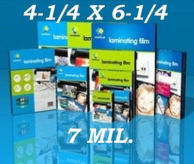4 x 6 Laminating Laminator Pouches Sheets 4.25 x 6.25 7 Mil (50- Pack)