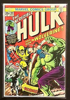 INCREDIBLE HULK # 181 w/ MARVEL STAMP - 1st Full Appearance of THE WOLVERINE