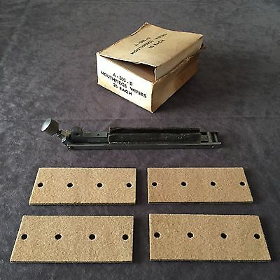 Ludlow Typography Machine Mouthpiece with 4 Wipers and Original Box