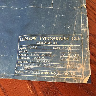 Ludlow Typograpy Machine Blue Print