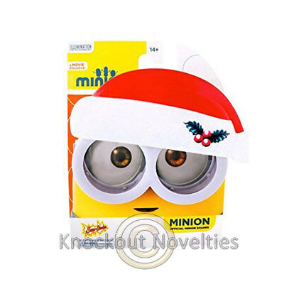 Sun-Staches - Minion Googles with Santa Hat Novelty Gift Item