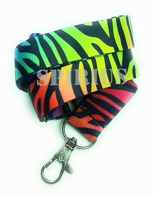 Spirius RAINBOW ZEBRA Lanyard neck strap for key id badge holder phone key