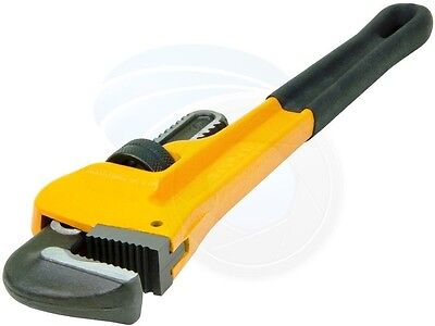 """NEW Adjustable Pipe Wrench 200mm (8""""), Soft Grip, by TOLSEN (Industrial)"""