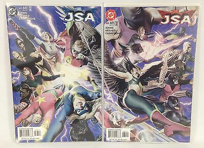 Justice Society of America #68-69 Connecting Cover Lot DC 1999 1st Prints Johns
