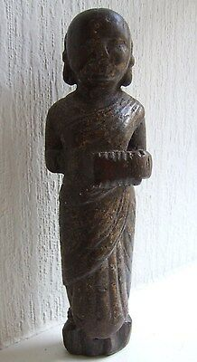 Antique carved wooden figure of a woman, possibly Asian, 18th Century