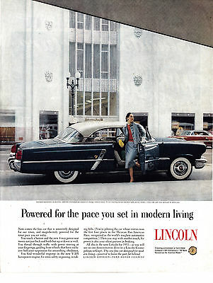 1953 Lincoln Cosmopolitan-2 Door Hardtop-205 HP-Original 13.5 * 10.5 Magazine Ad