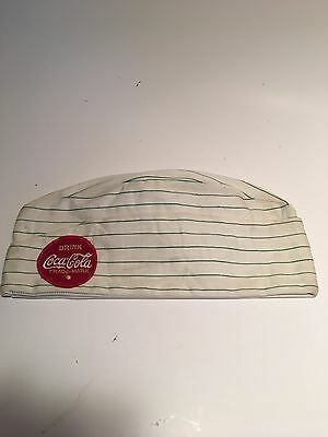 Coca-Cola Soda Fountain Cloth Hat Soda Jerk Hat With Red Coca Cola Patch MINT