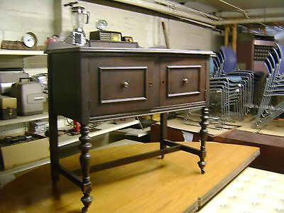 Antique Solid Wood Early 20's - 30's Era Serving Buffet Side Board Serving Table