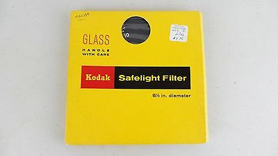 Kodak Safelight Filter  No 10 5 1/2 in 14 cm diameter Round Glass