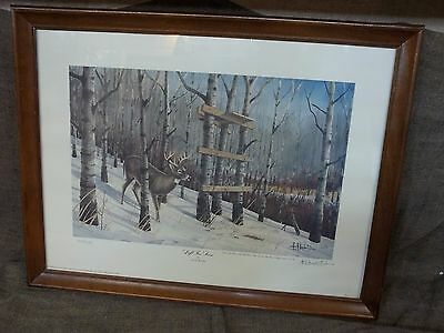 """""""Left Too Soon"""" by Les C. Kouba - Limited Edition Framed Picture 1477/2500"""