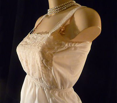 "Vintage Nylon Camisole  by Perrico. 36"" bust. New Old Stock."