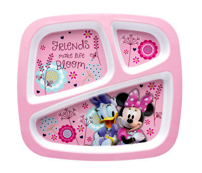 Disney Zak Designs Disney Minnie Mouse and Daisy Duck Pink 3 Section Plate for K