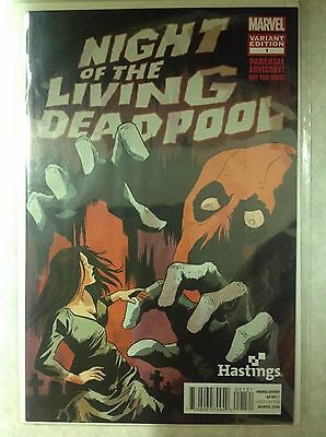 Night of the Living Deadpool #1 (Rare Hastings Variant, Marvel) First Print