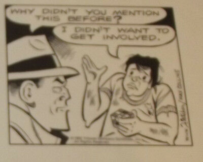Original Comic Strip Art Dick Tracy Dec 1982 Why Didn't You Mention This Before?
