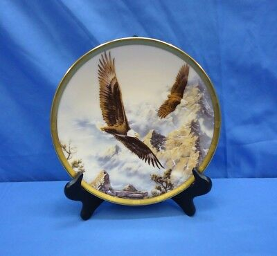 """✨ Lenox ~ 1993 ~ """"Soaring the Peaks"""" by Kelley ~ 8 in ~ Eagle Plate Collection ✨"""