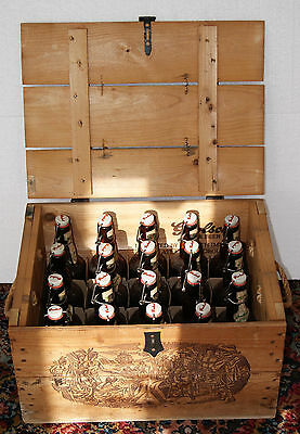 Vintage Grolsch Wooden Case with 19 Bottles with Tops