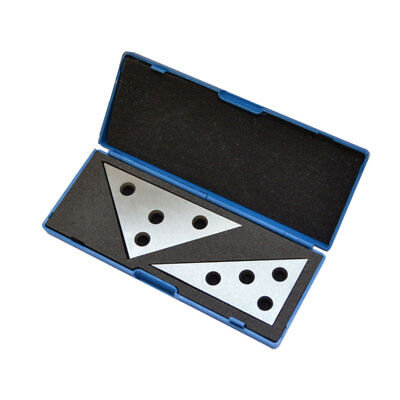 2 Pc Solid Precision 30-60-90 Degree and 45-45-90 Degree Angle Plates Inspection