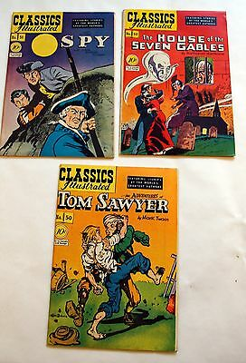 Classics Illustrated 1st editions lot of 3 - #50, 51, 52 - FN/VF - free shipping