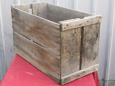 Fruit crate box Wooden, Timber Industrial Rustic Shabby