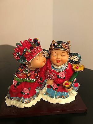 Set of Chinese Kissing Children