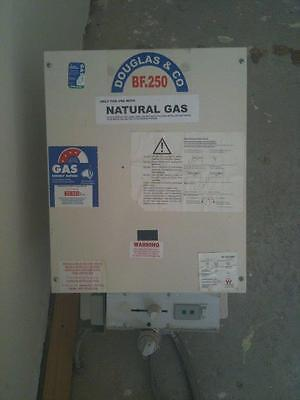 natural gas hot water system Douglas and co BF250
