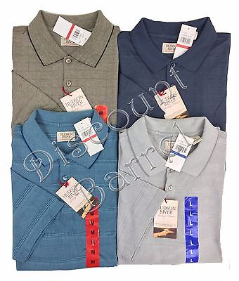 f8c99317ecea New Hudson River Men s Short Sleeve Polo Shirt Variety Performance Choose