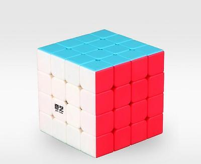ABS Ultra-smooth 4x4x4 Magic Cube Mixed 6-Color Stickerless Speed Cube