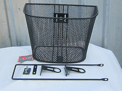 Bicycle Basket, Coated Wire with all fittings