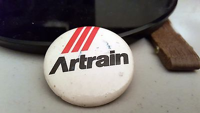 "Nice Button Artrain Vintage Pin 1.5"" Badges Collectible"