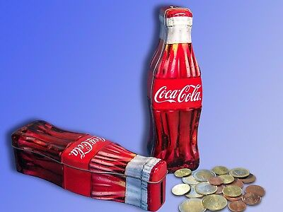 Coca Cola Sheet Metal Money Box, Saving Bottle, Saving Box, Trinkgeld Piggy Bank