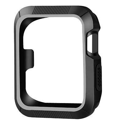 OULUOQI Apple Watch Case Protective iWatch Cover Protector TPU 42mm Black New