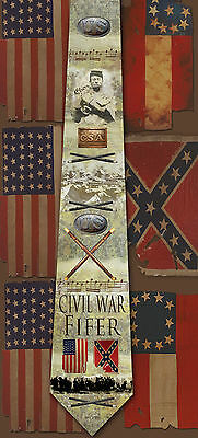 New Civil War Fifer poly satin neck tie