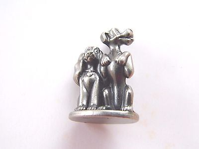 Genuine Monopoly Disney Edition Pewter Lady & The Tramp Game Piece Like New