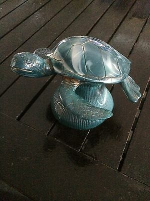 ceramic sea green sea  turtle statue