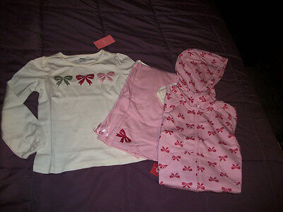 NWT Gymboree~~Classroom Kitty~~ 3 Pc Bow Outfit~~Top, Jacket, Pants~~Size 6/7