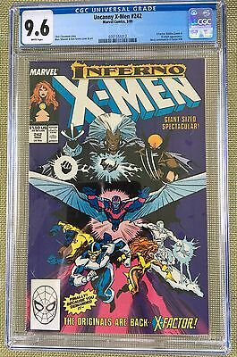 Uncanny X-Men #242 Cgc 9.6 -- White Pages! Inferno X-Over! Claremont/silvestri!