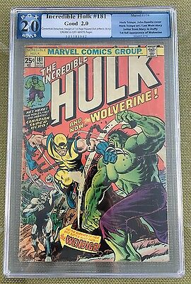 The Incredible Hulk #181 Pgx 2.0 -- 1St Wolverine!!  Wein/romita/trimpe Like Cgc