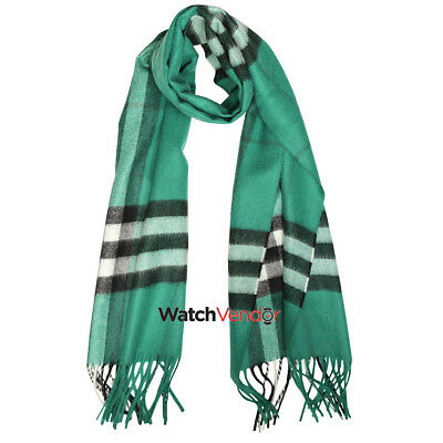 The Classic Cashmere Scarf in Check - Emerald Check