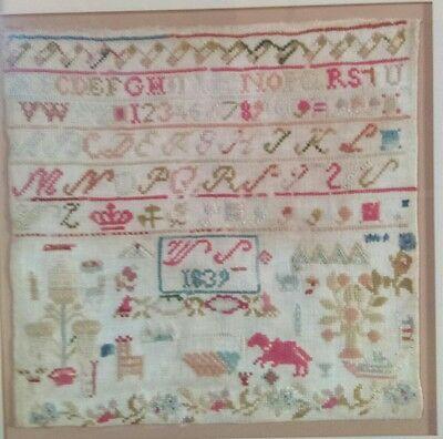 Antique Early 19th Century Sampler dated 1839