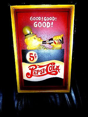 Vintage Collectible Wooden Pepsi-Cola Wall Sign